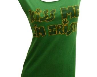 Lucky 80's Kiss Me I'm IRISH Reshaped T-Shirt Dress Sz. S/M