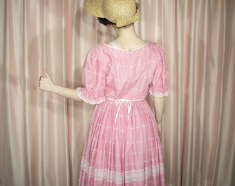Party Dress, 60's Pink Eyelet