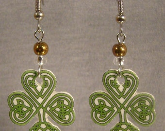 Celtic Clover Dangle earrings - St. Patrick's Day - Shamrock