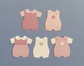 Pink Romper Die Cuts x 10 for Cards Announcements Scrapbooking and Paper Crafts Embellishments