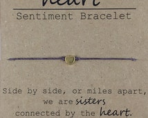 Sister Beaded Bracelet, Gift for Sister, Sister Moving Away Gift, Dainty Bead Bracelet