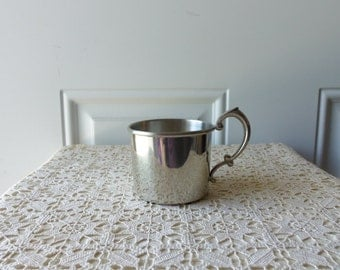 Pewter Baby Cup - Selmark Pewter, Vintage, Baby Gift, Baby Keepsake, Display, Childs Room, Christening, Baptism, Gift Idea