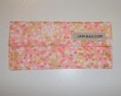 Money Holder / Fabric Envelope / Travel Wallet (White & Gold Dots on Pink) - Pink and Gold Birthday Gift - Money Envelopes, Cash Envelopes