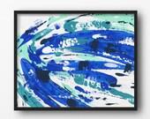 Canvas Wall Art, Home Decor, Wall Art, Wall Decor Canvas, 8 x 10 Art, Colorful Decorations, Canvas Print, Large Wall Art, Blue Home Decor