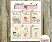 Clean My Room Chart | Pink Theme | Cleaning Chart | Printable Chore Chart | Girl Theme | Clean Room Chart | Instant Download