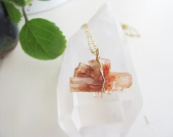 Raw Crystal Aragonite  Necklace - Boho Chic - Metaphysical Jewelry - Metaphysical Jewelry