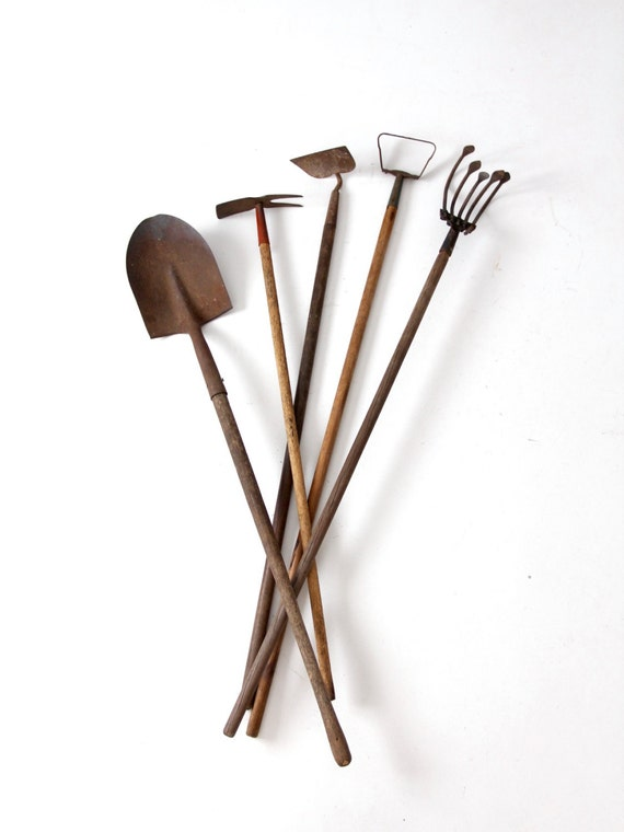 Vintage Garden Tools Collection Old Lawn And Garden Tools