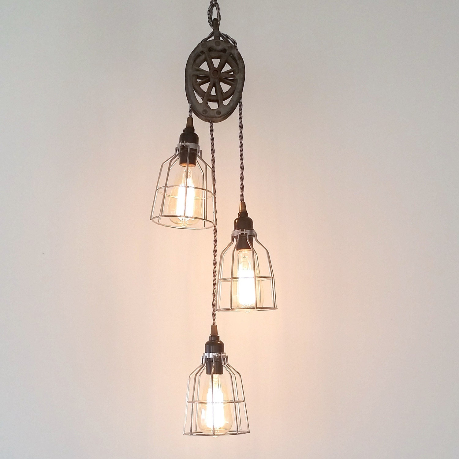 three light pulley pendant industrial modern by urbananalog