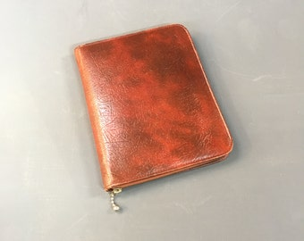 Vintage Brown English Leather Writing Case 1970s Leather Wallet