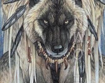 Werewolf and Ravens Print