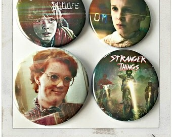 "Stranger Things - Large 2 1/4"" Pin Back Button"