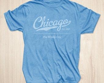 Chicago T Shirt in Vintage Heather Blue