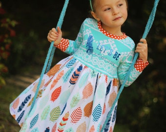 Fanciful Plume Lets Be Adventurous Knit Top Dress sizes 12m-6yrs
