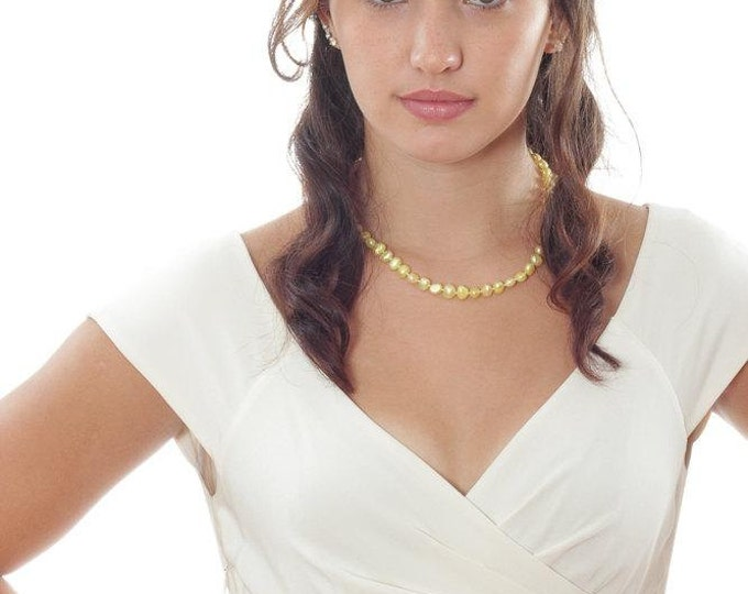 White Wedding Sash Belt - Grosgrain Belt w/ Rhinestone Embellishment - Handmade Bridal Sash Bridesmaids - 1000218