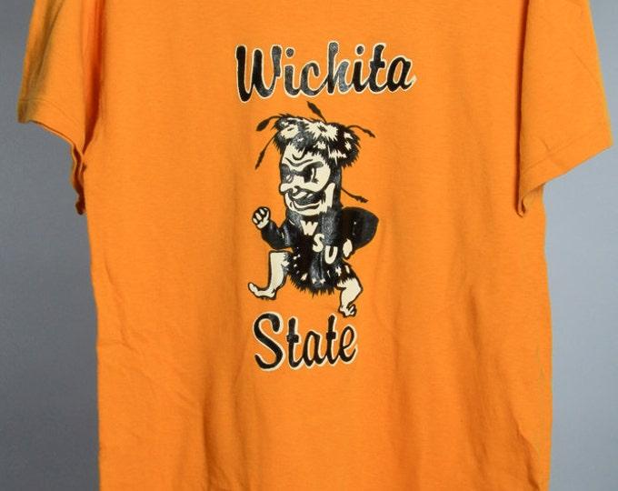 Large Wichita State Vintage T Shirt 1970s 80s WSU Kansas   6AA