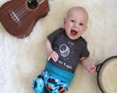 This One Goes To Eleven Grey Baby Bodysuit - Hand Screen Printed
