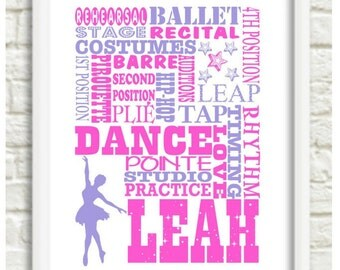Dance gift / personalized dance / Dancer recital gift / Dance Print / Dance poster / dance picture / dance teacher gifts / ballet gift