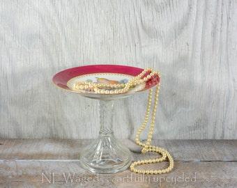 Shabby chic Serving stand / Cupcake stand / dessert pedestal / dessert bar / buffet table