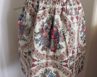 Beautiful Vintage Floral Ladies Cotton Half Apron - Unused (TL04)