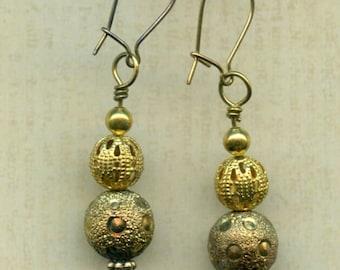 Golden Bauble Earrings
