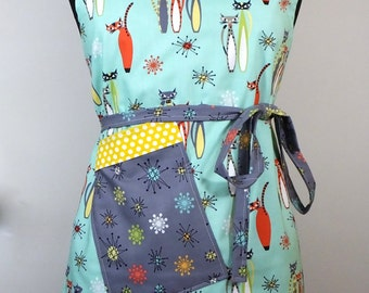 Atomic Cats Full Adult Apron