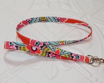 Lanyard - Badge Holder - Teacher Lanyard - Key Lanyard - Fabric Lanyard