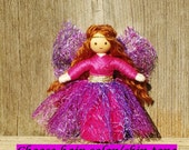 Fairy Doll -  Fairy Wings - Fairy Garden - Pink Fairy - Tiny Fairy Doll - Bendy Doll