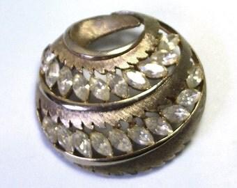 Antique Old Retro JJ Jonette Vintage Rhinestone Brooch, vintage JJ brooch, jj pin, jonette brooch, jonette pin, lizones  etsy