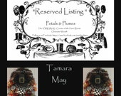 """RESERVED Installment Listing for """"TAMARA MAY""""- First Installment Payment  for """"Black/White Turkey Wreath"""" Thanksgiving 2016 Delivery"""