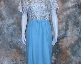 50s Blue Dress Abstract Print Dress Size Large Dress Blue 1950s Ladies Dress Full Figured Dress Vintage 50s Dress Short Sleeve Dress