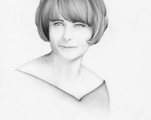 Photo Gift Mom Hand Drawn Portrait of Mom from your Photograph One of a Kind Gift for Her Mom Mother Personalized Pencil Drawing