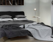 King bedspread Double-sided linen coverlet or lightweight blanket More colors available