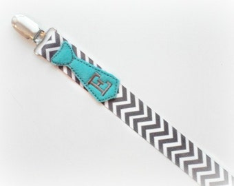 Personalized Baby Pacifier Clip Monogram Tie Pacifier Holder Chevron Baby Boy  Tie Personalized Baby  Soothie Nuk Mam Twins Gift