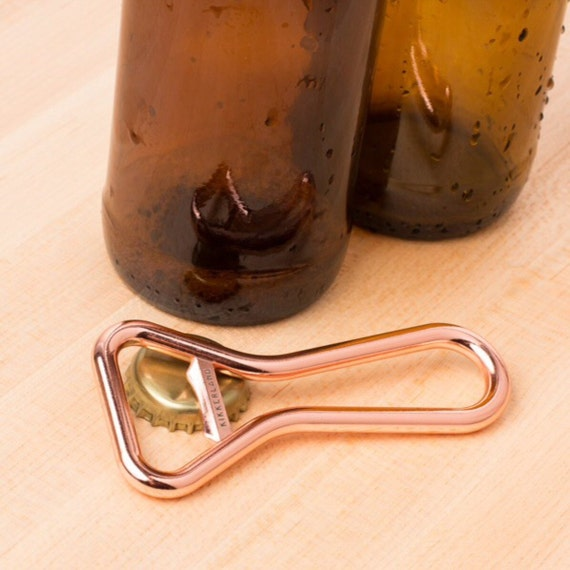 Copper Bottle Opener Bar Tool Bartender Key Polished Metal Pop