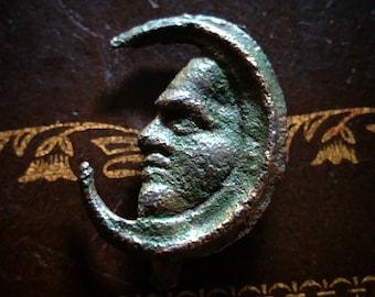 Ww1 medal small moon beautiful patina