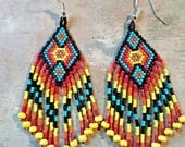 Beautiful, Colorful Native American Style Beaded Earrings