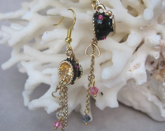 Dangling Tea Cup Earrings Pouring Out Love