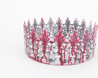 Zombie + Vampire Tallulah || full size lace crown || photography prop|| Toddler-Adult || custom sizes || WASHABLE