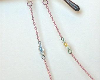 Eye Glass Holder, Pink Chain