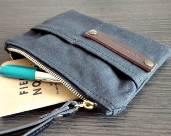 Waxed canvas pouch, canvas coin purse, waxed canvas purse, canvas purse, travel wallet, for him, card holder, passport cover, fabric wallet