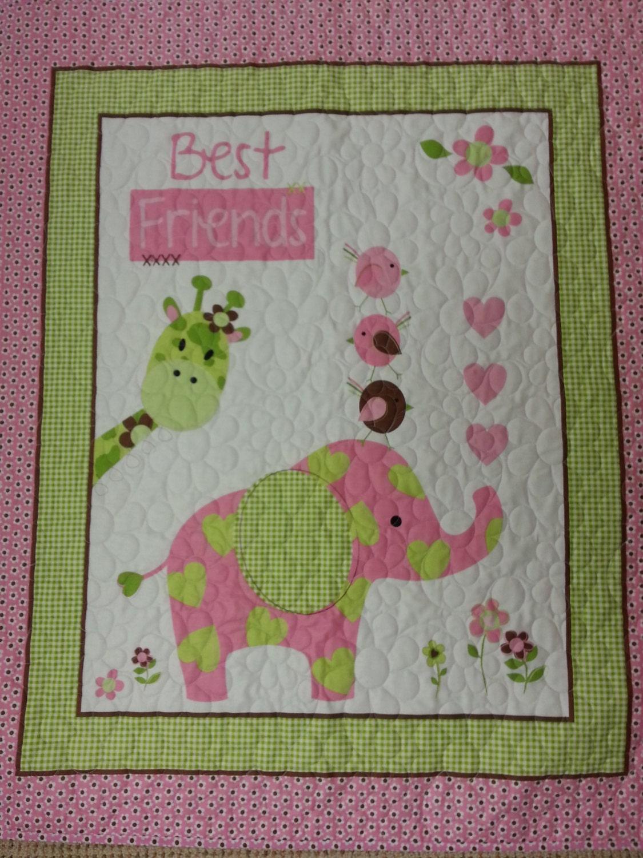 Pink Elephant Baby Quilt Giraffe Baby Quilt Blanket Best