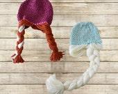 Anna Hat Crochet Frozen Hat Anna Wig