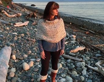CROCHET PATTERN: 'Capelet & Boot Cuffs', Winter Fashion, Crochet Poncho