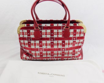 Vintage ROBERTA DI CAMERINO Huge Carpet Bag with Dust bag Deadstock New with Tags Never worn
