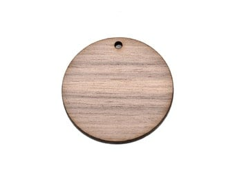 100 Walnut Wood CIRCLE Disc blanks shapes, Keychain blanks Laser Cut, customize pendants; choose size, Lcw0148d