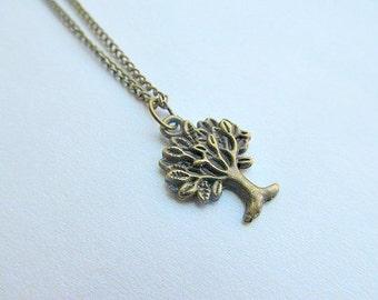 Bronze Tree Of Life Pendant Necklace