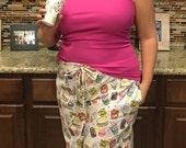 Women's Pajama Pants sewing PDF pattern; pajama pants pattern; womens pajama pants pattern; lounge pants sewing pattern