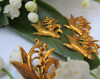 6 Lily Of The Valley Brass Findings