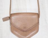 RARE COACH Brown Leather Crossbody Bag Purse Saddle Brown Megan 9921 Geometric