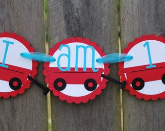 Red Wagon Birthday Party High Chair BannerBanner, Red Wagon Party Theme, Red Wagon Baby Shower